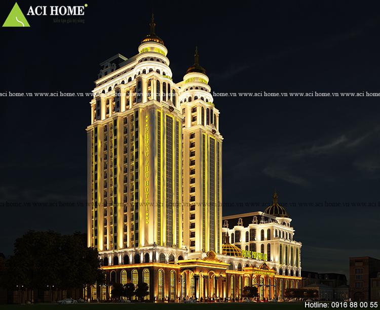 Thiết kế khách sạn kiểu Pháp và trung tâm thương mại