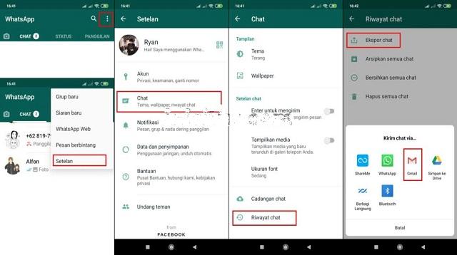 Cara Memindahkan WA dari Android ke iPhone melalui Email