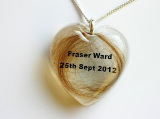 Personalised memorial pendant for a loved ones hair