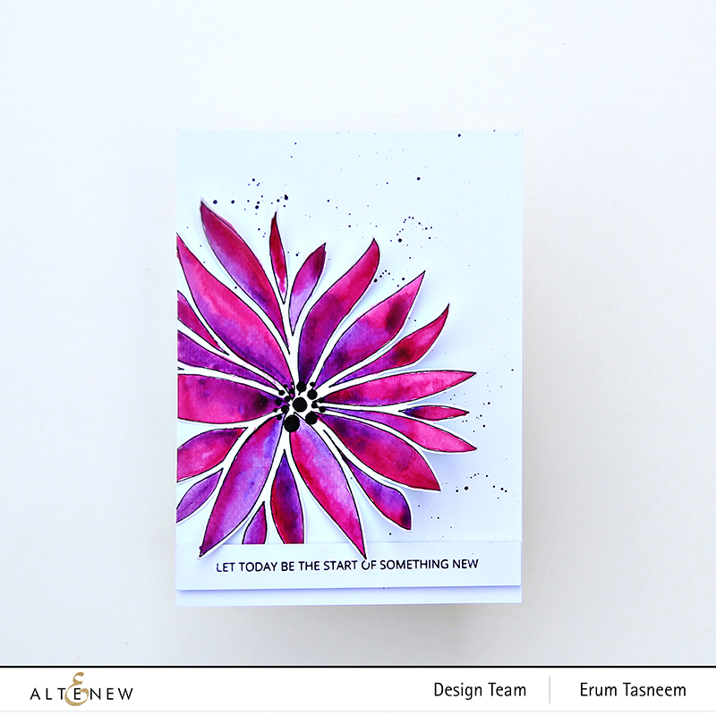 Altenew Bursting Dahlia Stencil | Erum Tasneem | @pr0digy0