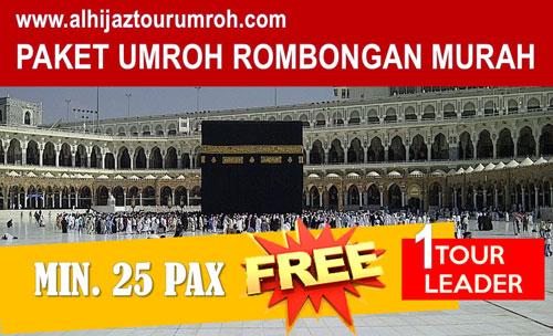 Paket Umroh Rombongan Murah Diskon Min. 25 Pax Free TL !