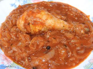 Tocanita de pui reteta traditionala romaneasca taraneasca de casa cu ceapa la ceaun retete culinare mancare gatita dobrogeana mancaruri cu carne tocana tocanite pulpe copane sos tomat,