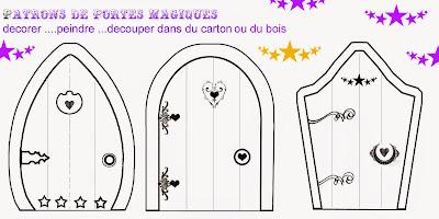 Puertas de Casas de Hadas para Imprimir Gratis y Moldes.