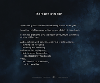 The Reason in the Rain Copyright 2018 Christopher V. DeRobertis. All rights reserved. insilentpassage.com