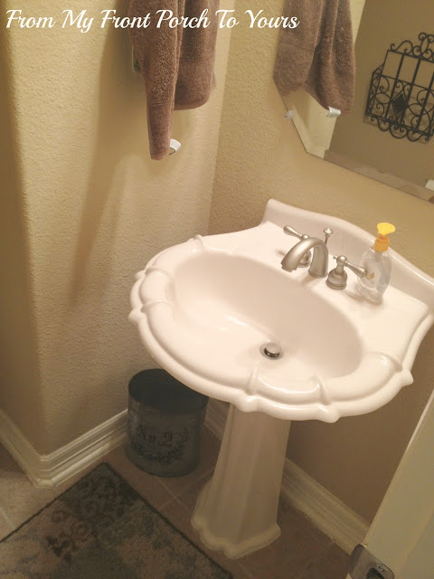 before-half bath-scalloped sink