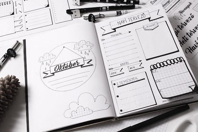 Bullet Journal Október 2017 - Napi tervező