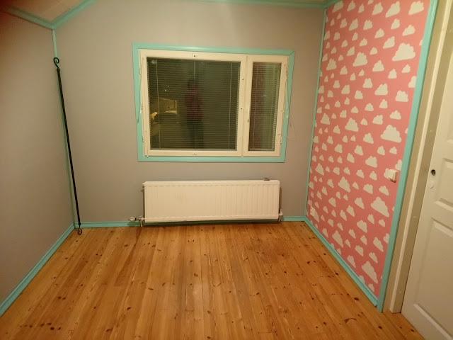 Tytön huone valmiina