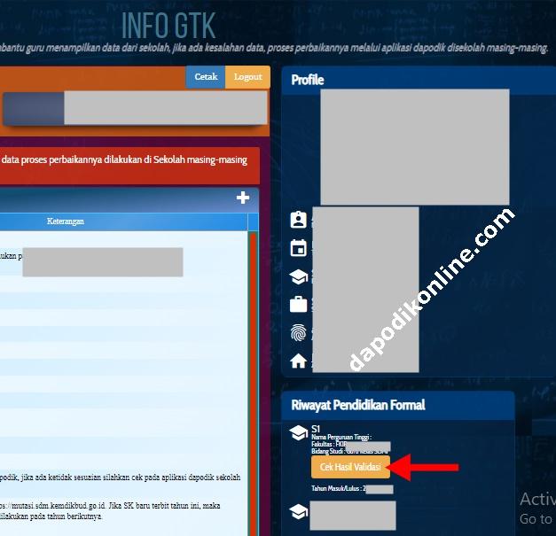 Cara Cek Hasil VerVal Ijazah S1/D4 di Info GTK untuk Guru Honorer