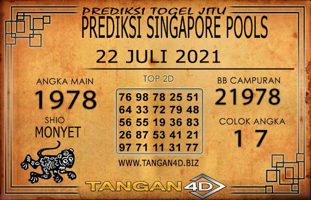 PREDIKSI TOGEL SINGAPORE TANGAN4D 22 JULI 2021