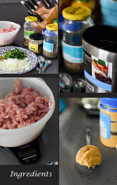 Other raw ingredients needed to make Satay Chicken pie