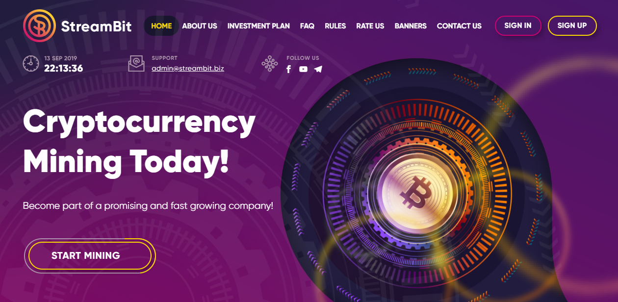 Streambit.biz Review: Cryptocurrency Mining 104 after 1 day