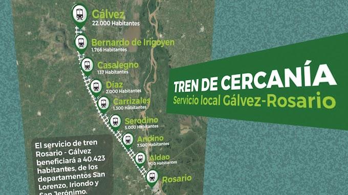 Gestiones para activar el tren local entre Rosario y Gálvez