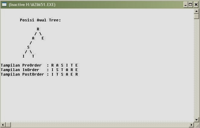 Contoh Program C++ : Program Tree C++ Sederhana