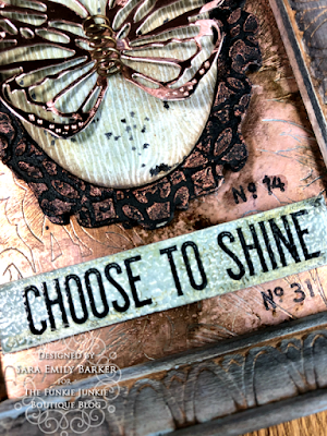 Sara Emily Barker https://sarascloset1.blogspot.com/2020/06/copper-penned-panel.html Mixed Media Panel #timholtz #sizzix #stampersanonymous #ranger 4