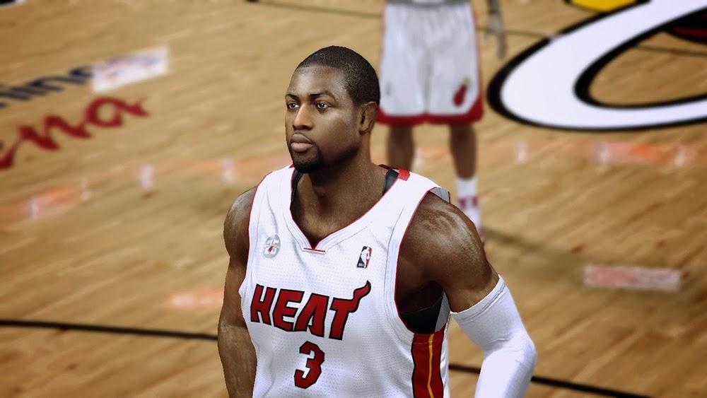 NBA 2k14 Dwyane Wade Cyberface Patch