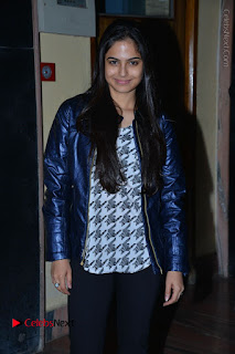 Actress Nanina Ganguly Stills in Black Tights with Vangaveeti Movie Team at Devi Theater  0001.JPG