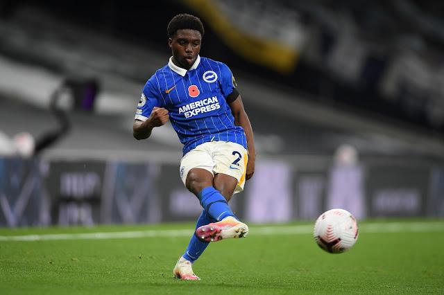 Brighton defender Tariq Lamptey