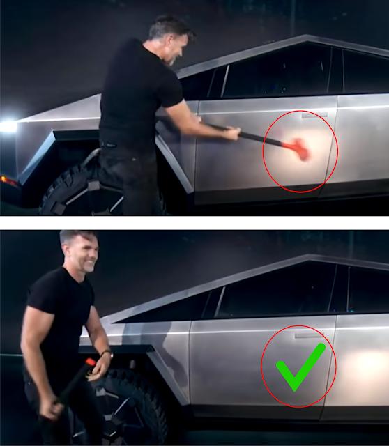 Tesla Cybertruck exoskeleton test