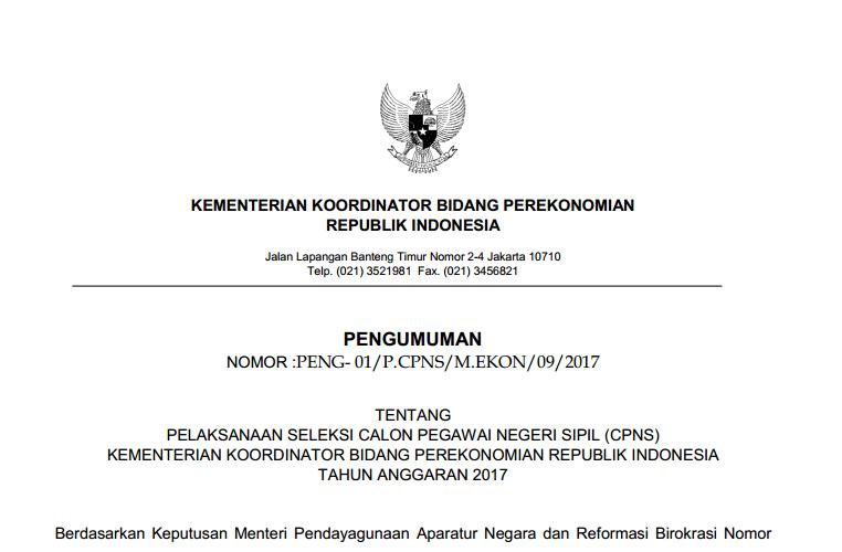 Kemenkoekon Soal Dan Pendaftaran Cpns Kementerian