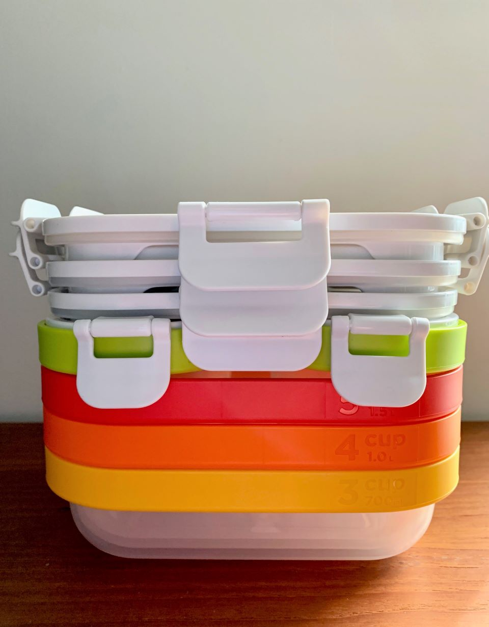 Zoku Nesting Containers stacked for easy storage #ad