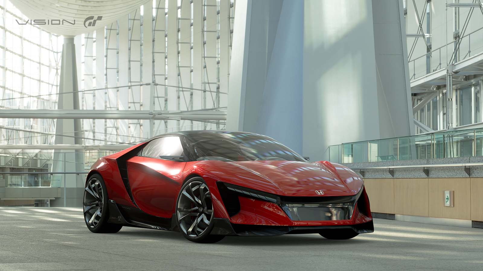 honda 39 s baby nsx emerges as sports vision gran turismo concept. Black Bedroom Furniture Sets. Home Design Ideas