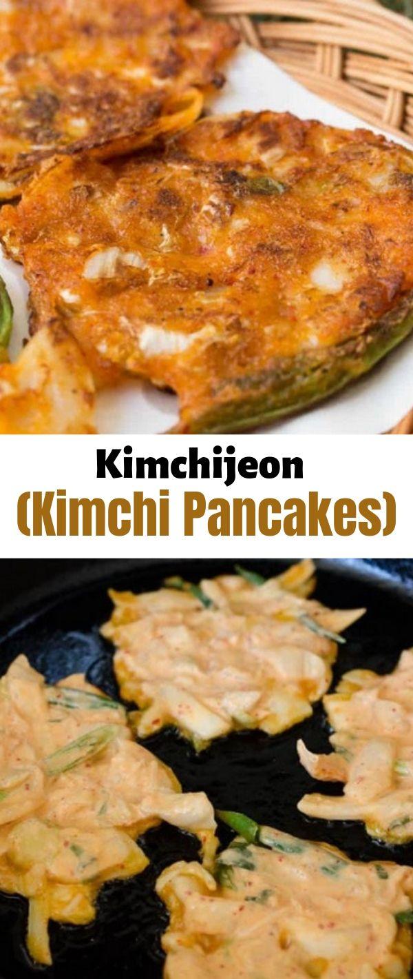 Kimchijeon (Kimchi Pancakes) #Kimchijeon #(Kimchi Pancakes) Healthy Recipes Easy, Healthy Recipes Dinner, Healthy Recipes Best, Healthy Recipes On A Budget,