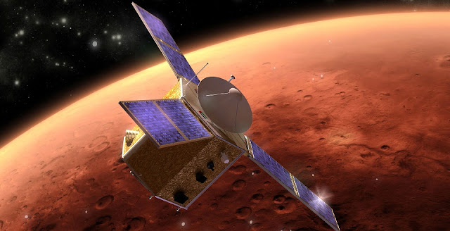 Artist's concept of the 'Hope' spacecraft at Mars. Image Credit: Emm.ae