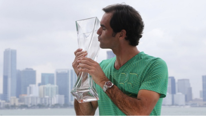 Federer Beats Nadal 6-3, 6-4 for Third Time In 2017, to win Miami Open 2017