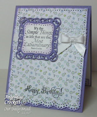 ODBD 'Little Things' and 'Birthday Blessings' Designer Angie Crockett