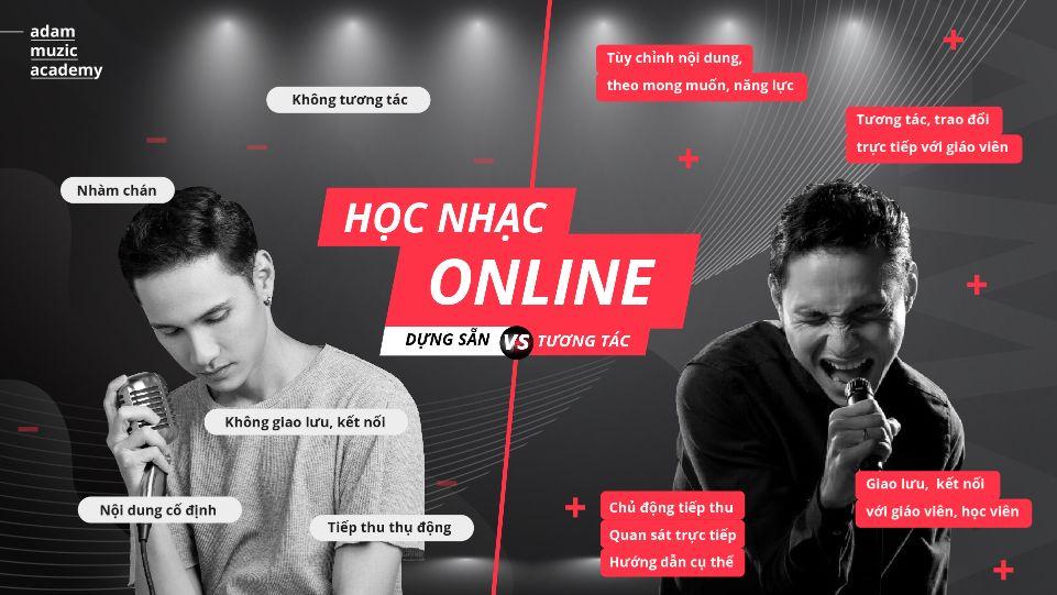 Học nhạc Online dựng sẵn khác học nhạc Online tương tác