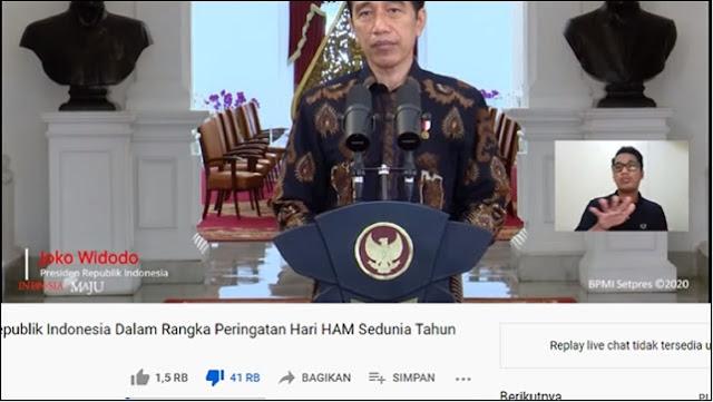 Jokowi Tak Singgung Penembakan Laskar FPI dalam Pidato HAM, Rocky: Presiden Pengecut!
