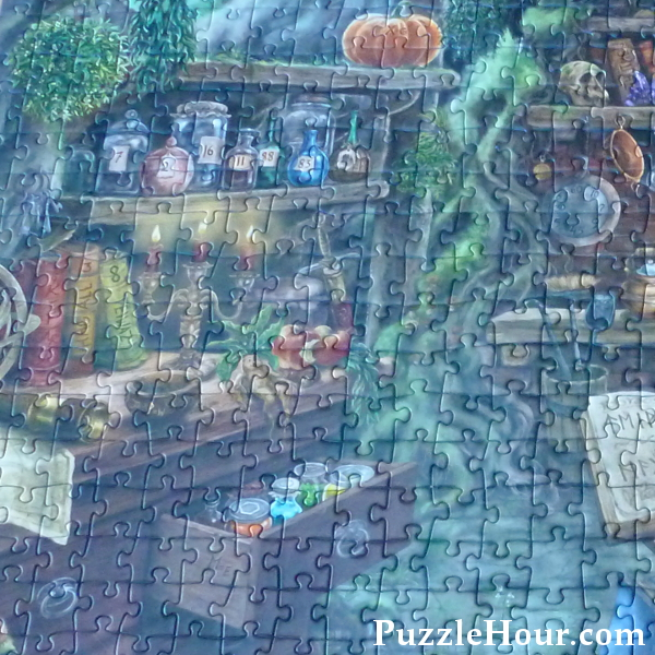 potion bottles coloured jars witch theme halloween jigsaw puzzle