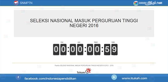 Pendaftaran SNMPTN 2016 Dibuka Mulai Hari Ini !