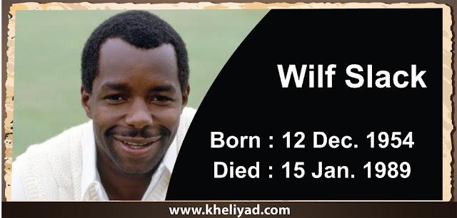 wilf slack cricketer