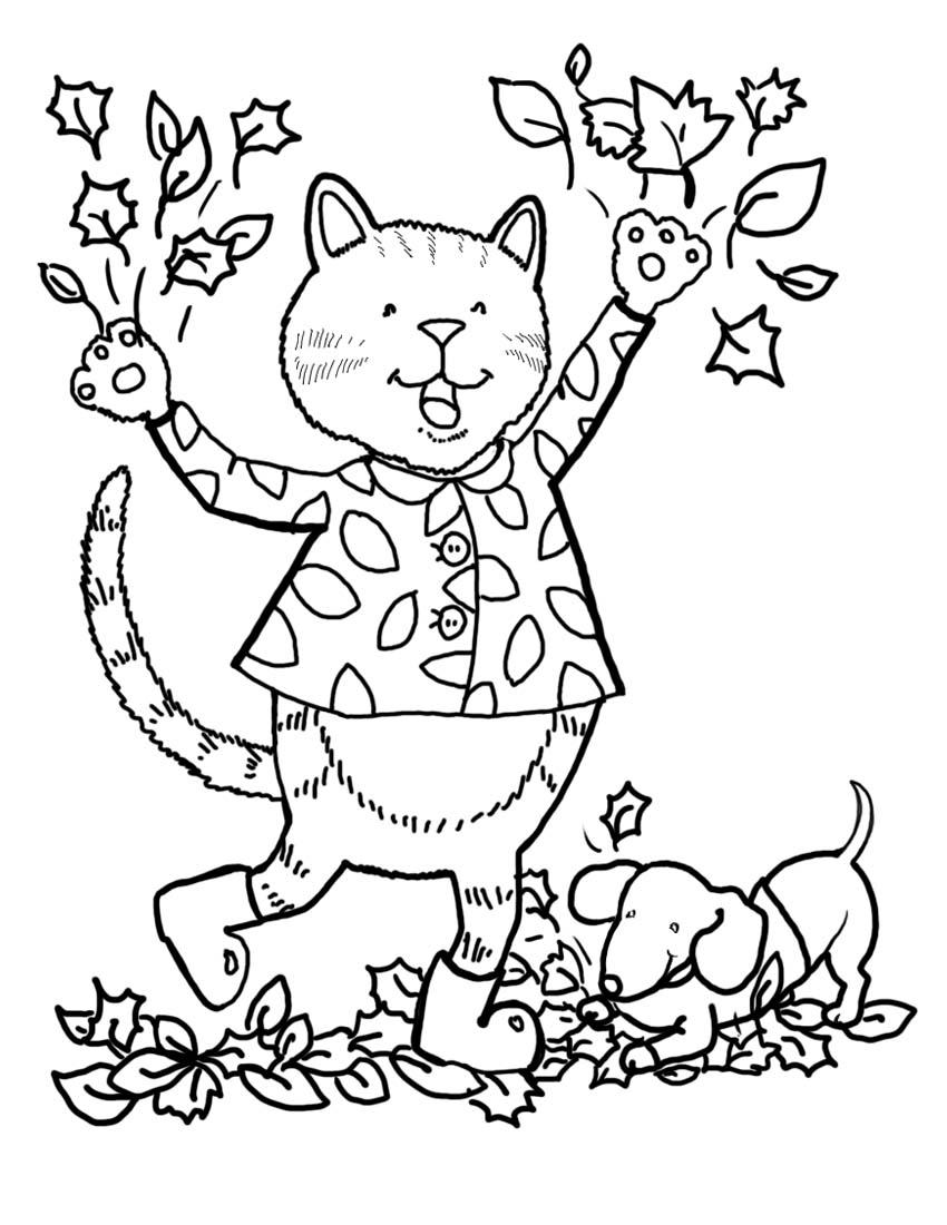 autumn coloring book pages | Imagens do Outono para Colorir e Pintar » Smiling Toys Blog