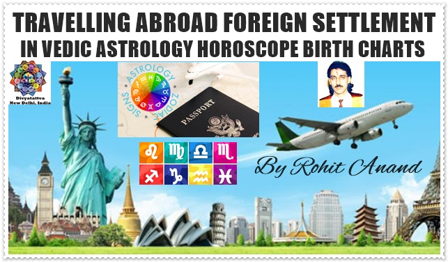 Travel Abroad & Foreign Settlement in Vedic Astrology By Celebrity Astrologer Rohit Anand