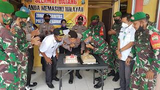 Camat Senayang dan Danramil 06 mendatangi  Mako Polsek Senayang, Ada Apa ?