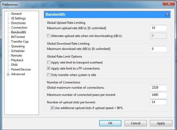 تثبيت برنامج uTorrent
