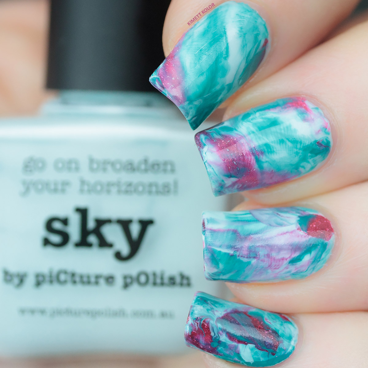 KimettKolor picture polish challenge nail art