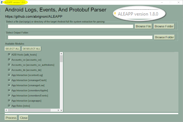 ALEAPP - Android Logs Events And Protobuf Parser
