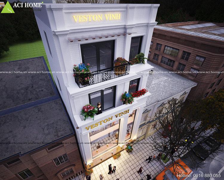 Cửa hàng kinh doanh nhà phố kiểu Pháp