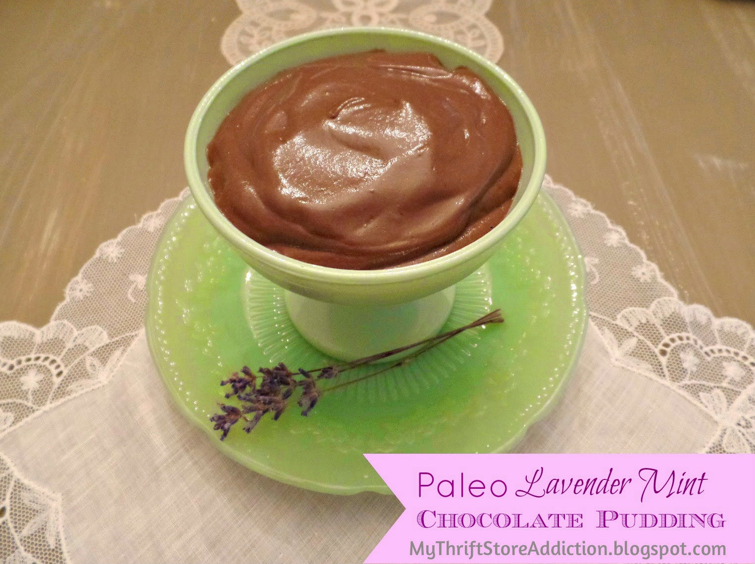 Paleo lavender mint chocolate pudding