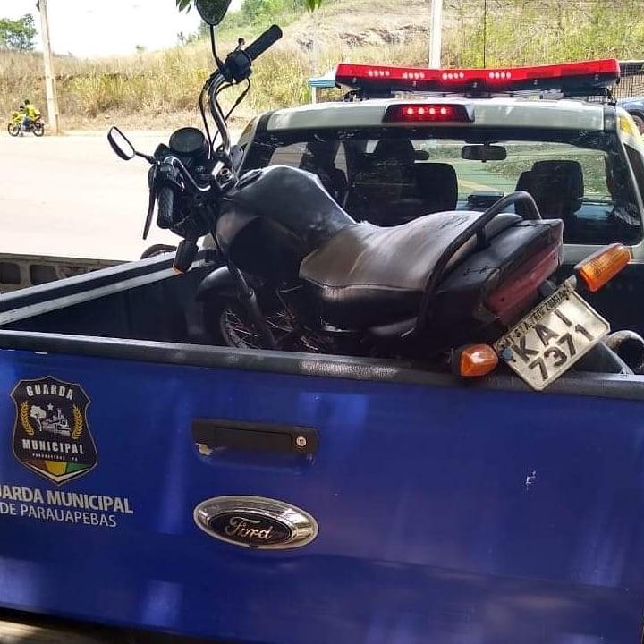 Guarda Municipal recupera moto roubada em Parauapebas - Portal Pebão