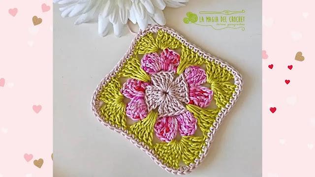 Paso a Paso de Motivo o Granny Floral a Crochet