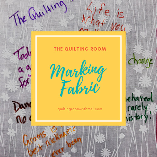 Learn what Mel uses to mark fabric that always washes out.