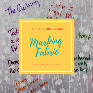 From time to time you need to mark your quilt fabric.  Find out what I use and why I use it.