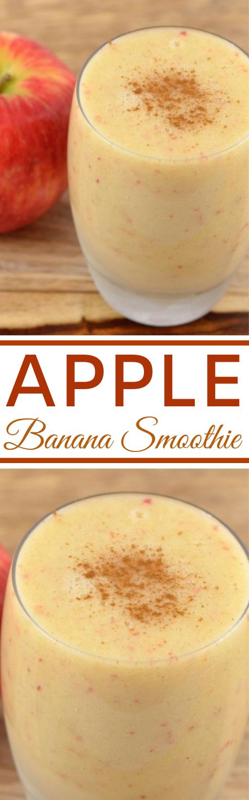 Apple Banana Smoothie #smoothies #drinks #healthy #breakfast #snacks
