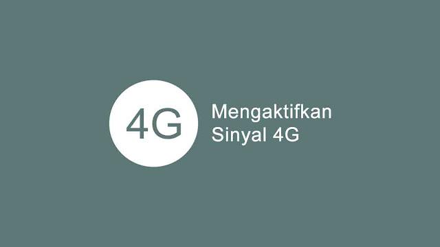 Cara aktifkan jaringan 4G LTE android