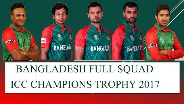 Bangladesh Team Squad for ICC Champions Trophy 2017