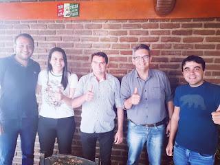 Prefeito e vice de Picuí se encontram com Charles Camaraense, reeleito em Cuité